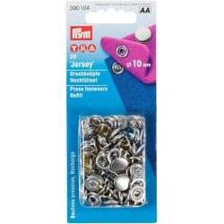 Boutons pression jersey 10 mm Nickel PRYM