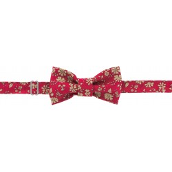 kit noeud papillon en tissu Liberty of London - rouge - Com' 1 idée