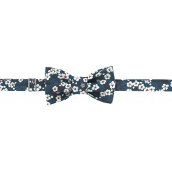 kit noeud papillon en tissu Liberty of London - bleu Mitsi- Com' 1 idée